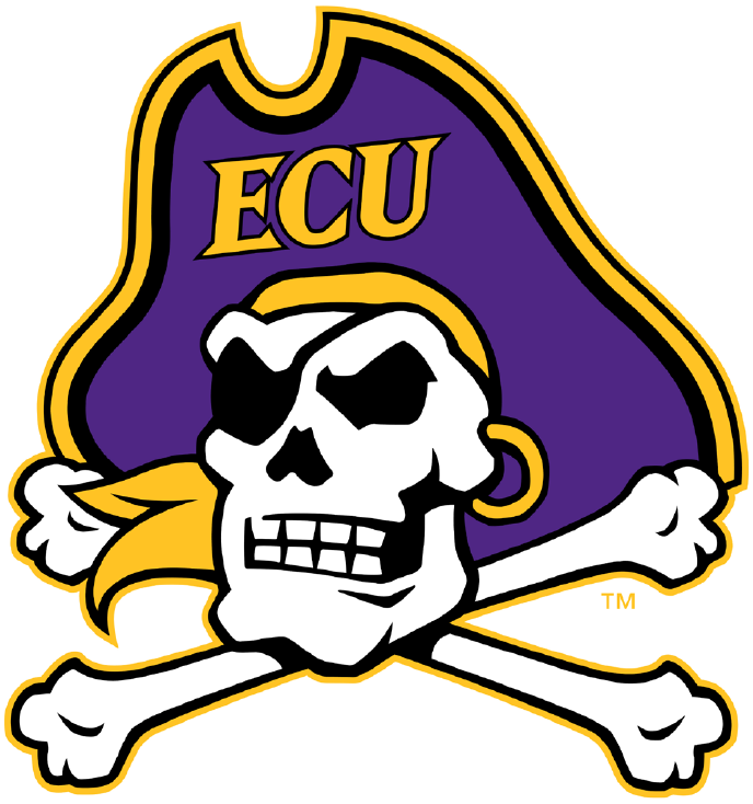 East Carolina Pirates iron ons