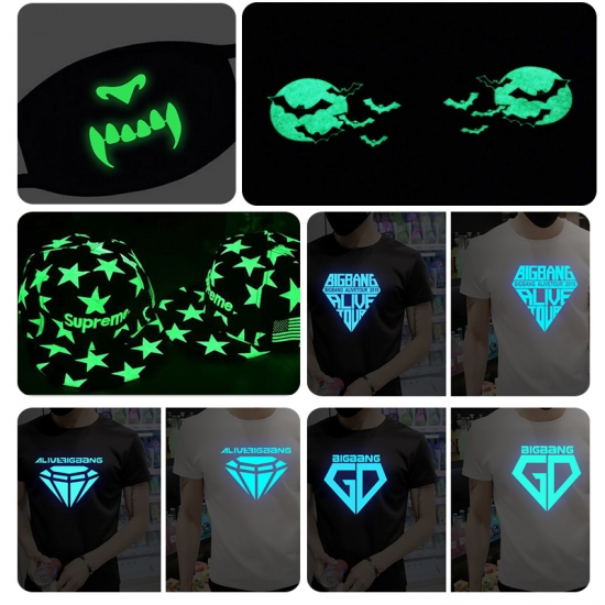 Glow In The Dark Iron-on Transfer Stickers