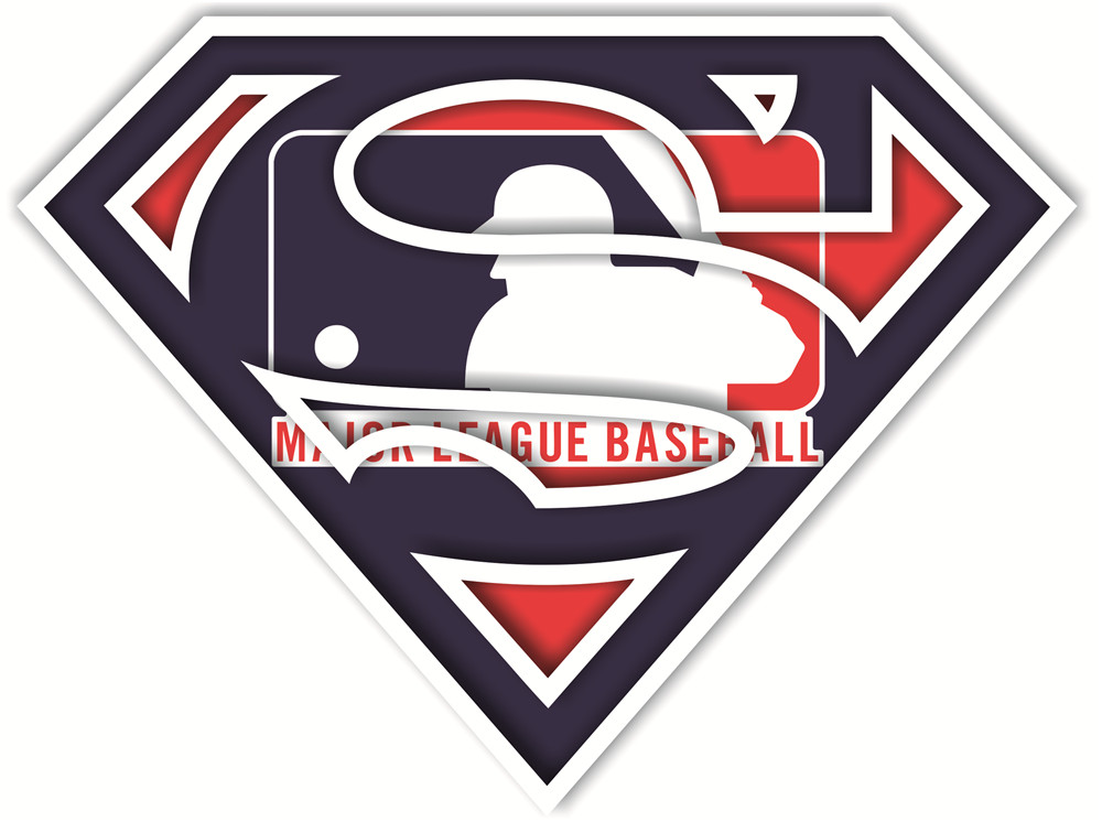 MLB Superman iron ons