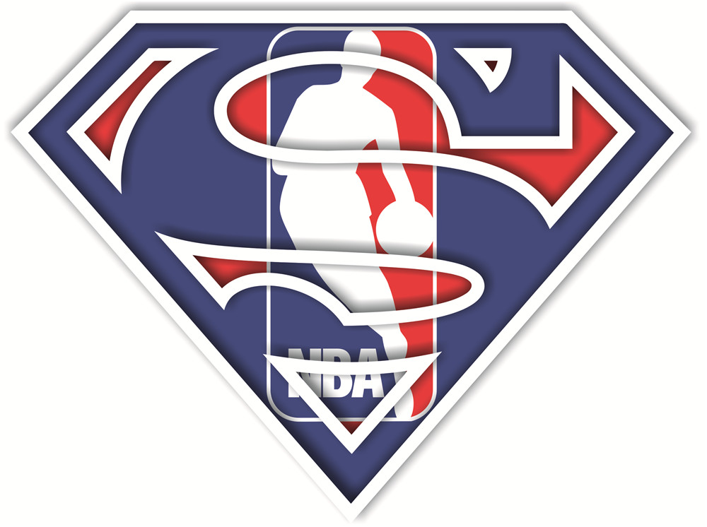NBA Superman iron ons