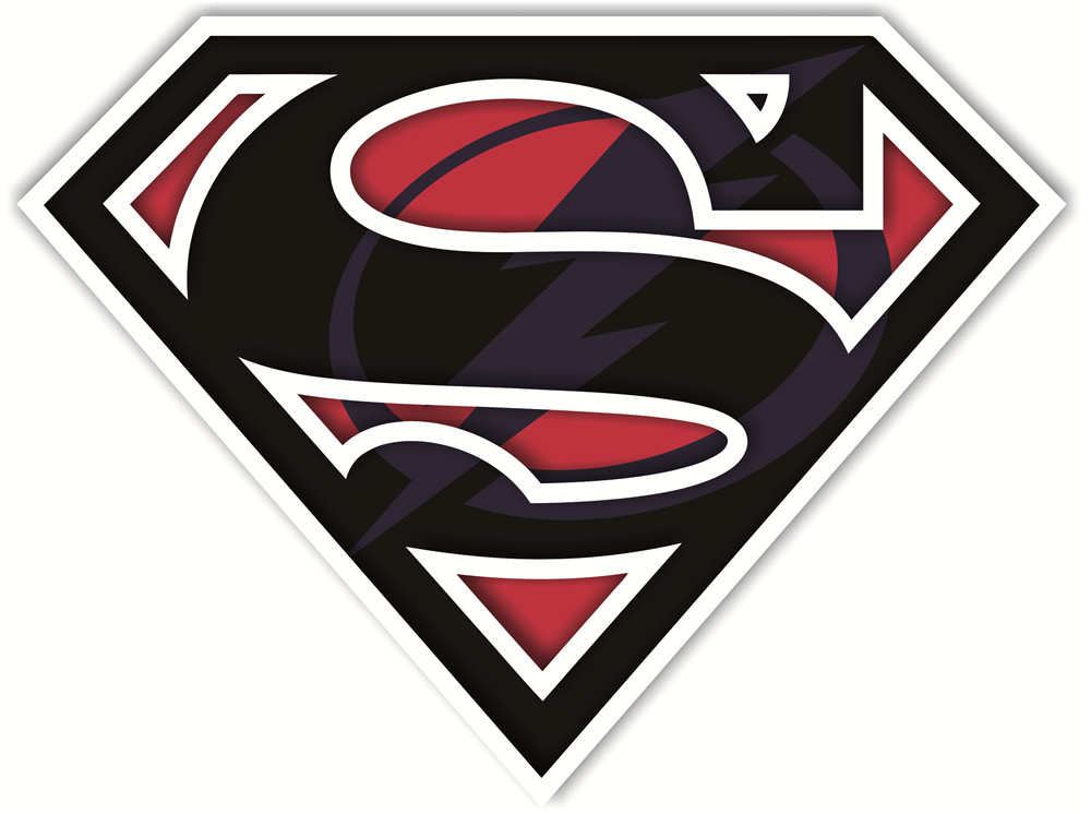 Tampa Bay Lightning superman logos iron on heat transfer