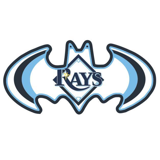 Tampa Bay Rays Batman Logo iron on transfers