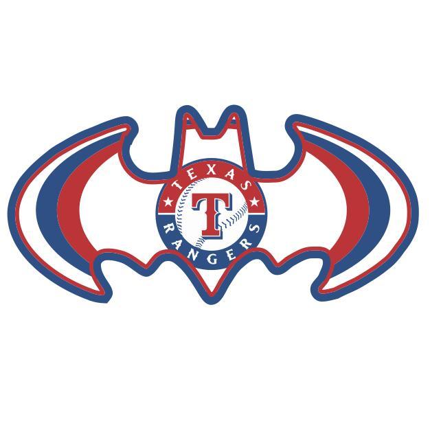 Texas Rangers Batman Logo iron on transfers