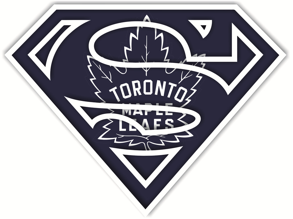 Toronto Maple Leafs superman logos iron on heat transfer