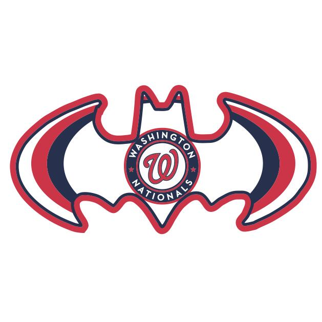 Washington Nationals Batman Logo iron on transfers