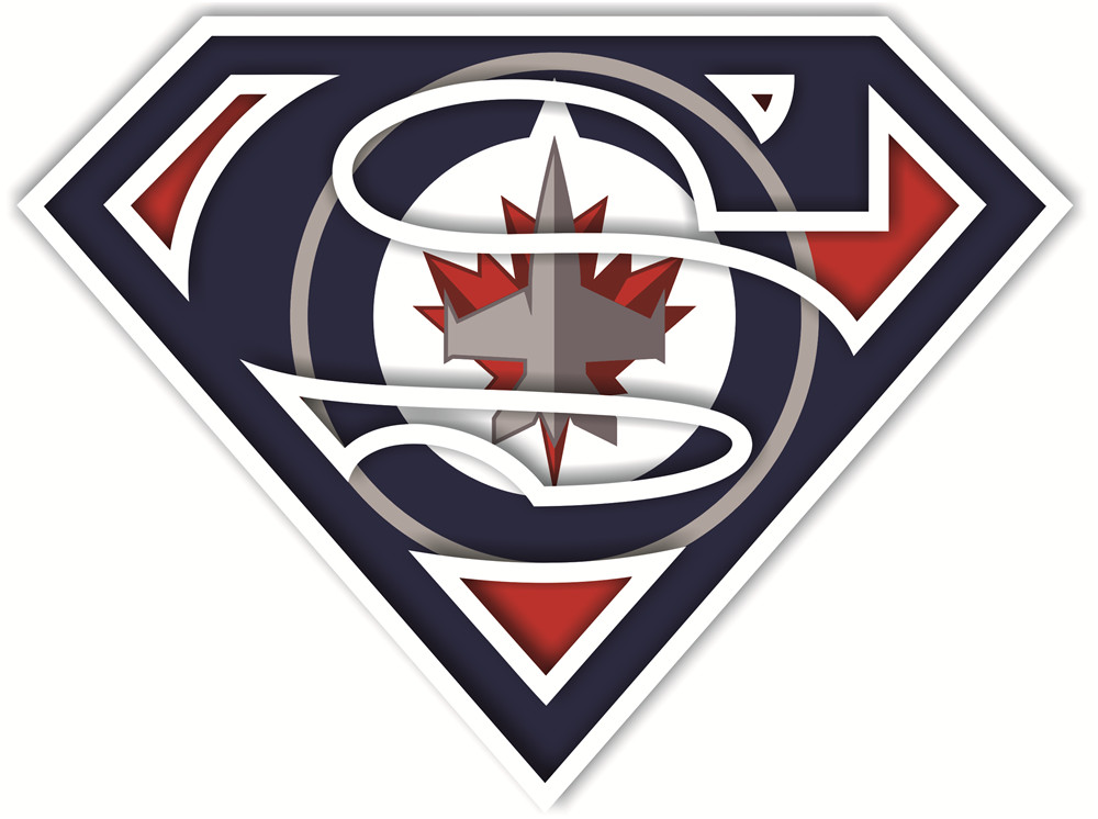 Winnipeg Jets superman logos iron on heat transfer
